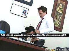 Mature brunette slut at work in her office