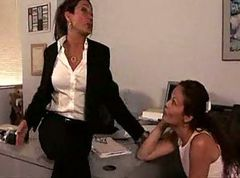 Beautiful office Lesbians